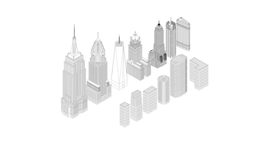 Pacchetto di New York City royalty-free 3d model - Preview no. 7