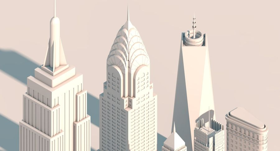 Pacchetto di New York City royalty-free 3d model - Preview no. 6