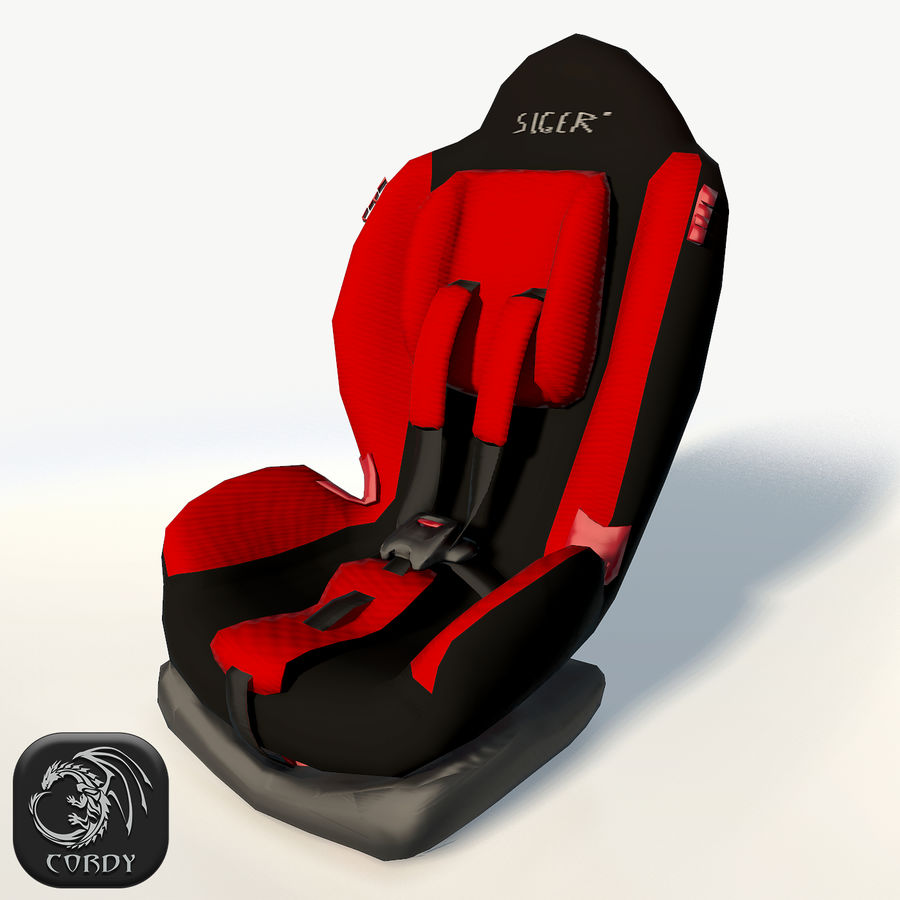 Baby car seat royalty-free 3d model - Preview no. 1