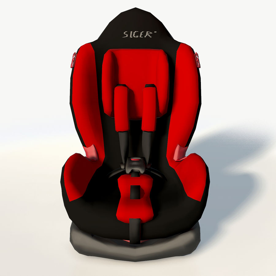 Baby car seat royalty-free 3d model - Preview no. 8