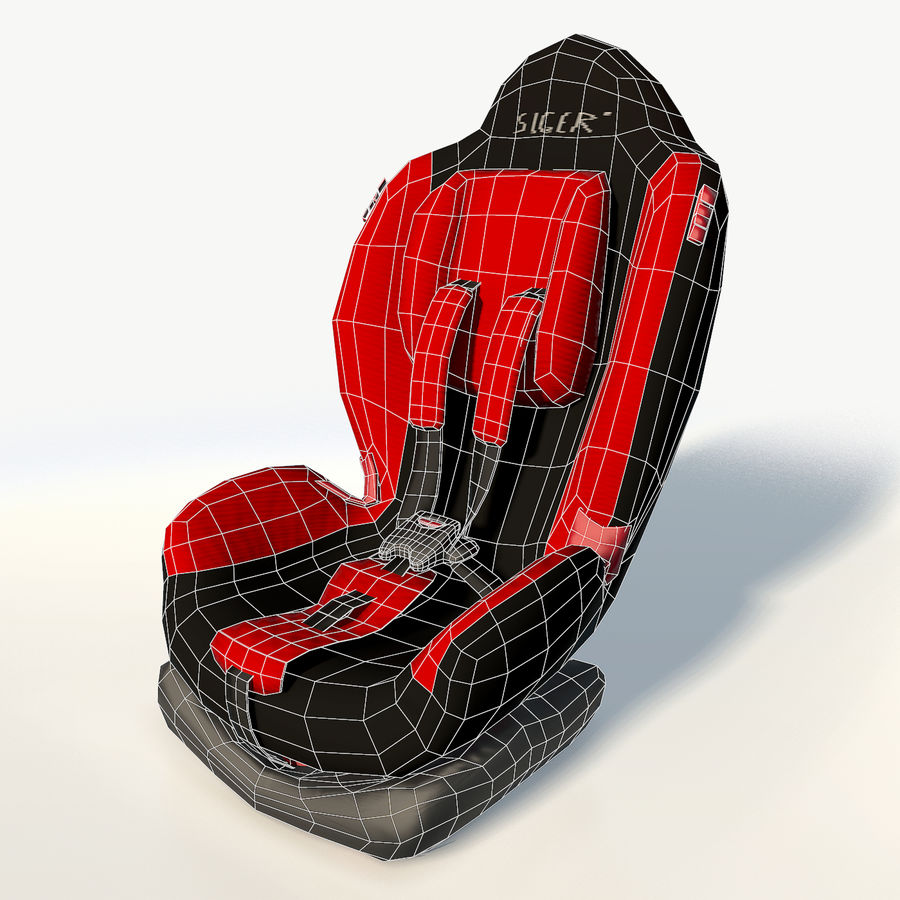Baby car seat royalty-free 3d model - Preview no. 3