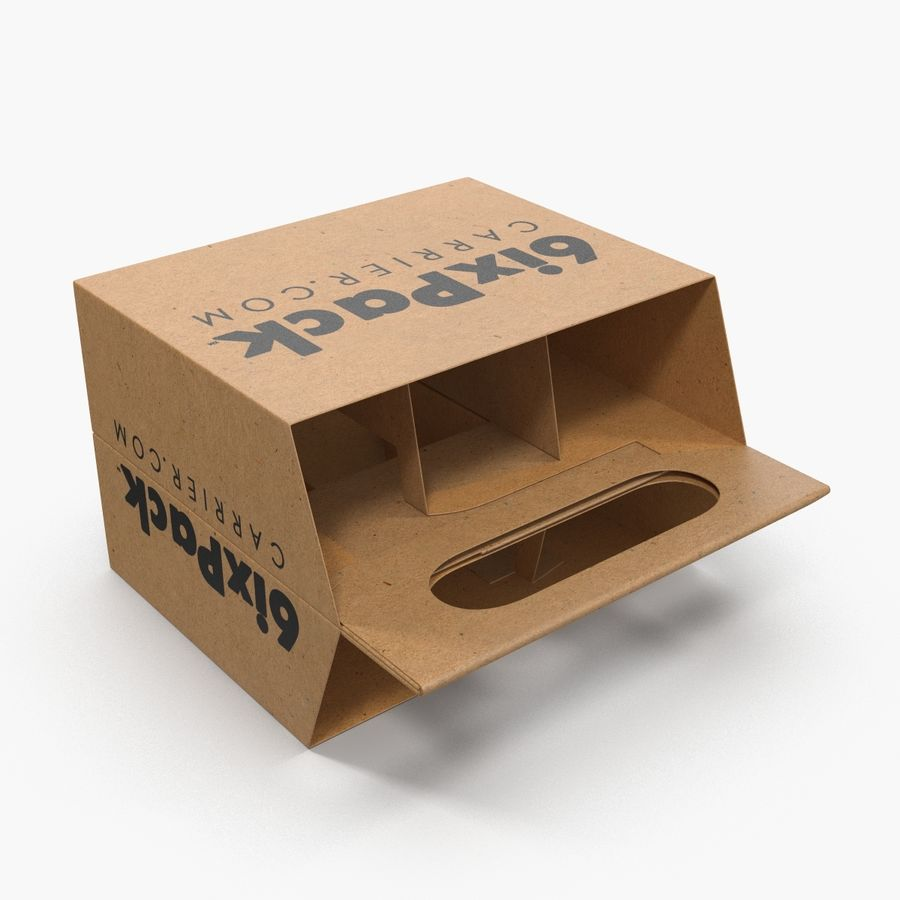 6 Pack Bottle Holder 3D模型 royalty-free 3d model - Preview no. 8