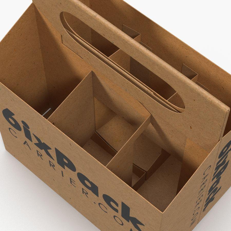 6 Pack Bottle Holder 3D模型 royalty-free 3d model - Preview no. 11