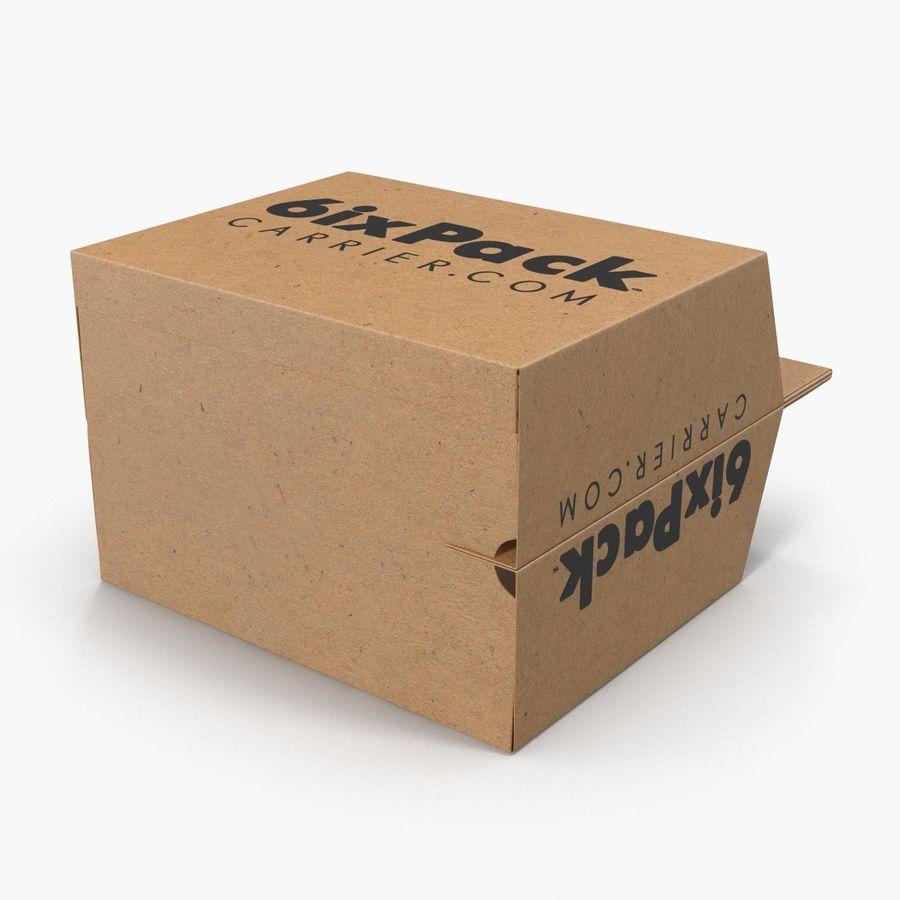 6 Pack Bottle Holder 3D模型 royalty-free 3d model - Preview no. 7