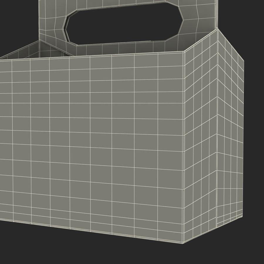 6 Pack Bottle Holder 3D模型 royalty-free 3d model - Preview no. 23