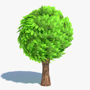 Cartoon-Baum rund 3d model