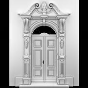 Classical arch door. 3d model