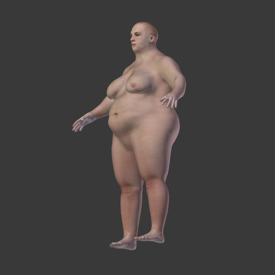 Fat Mid Aged Woman royalty-free 3d model - Preview no. 13