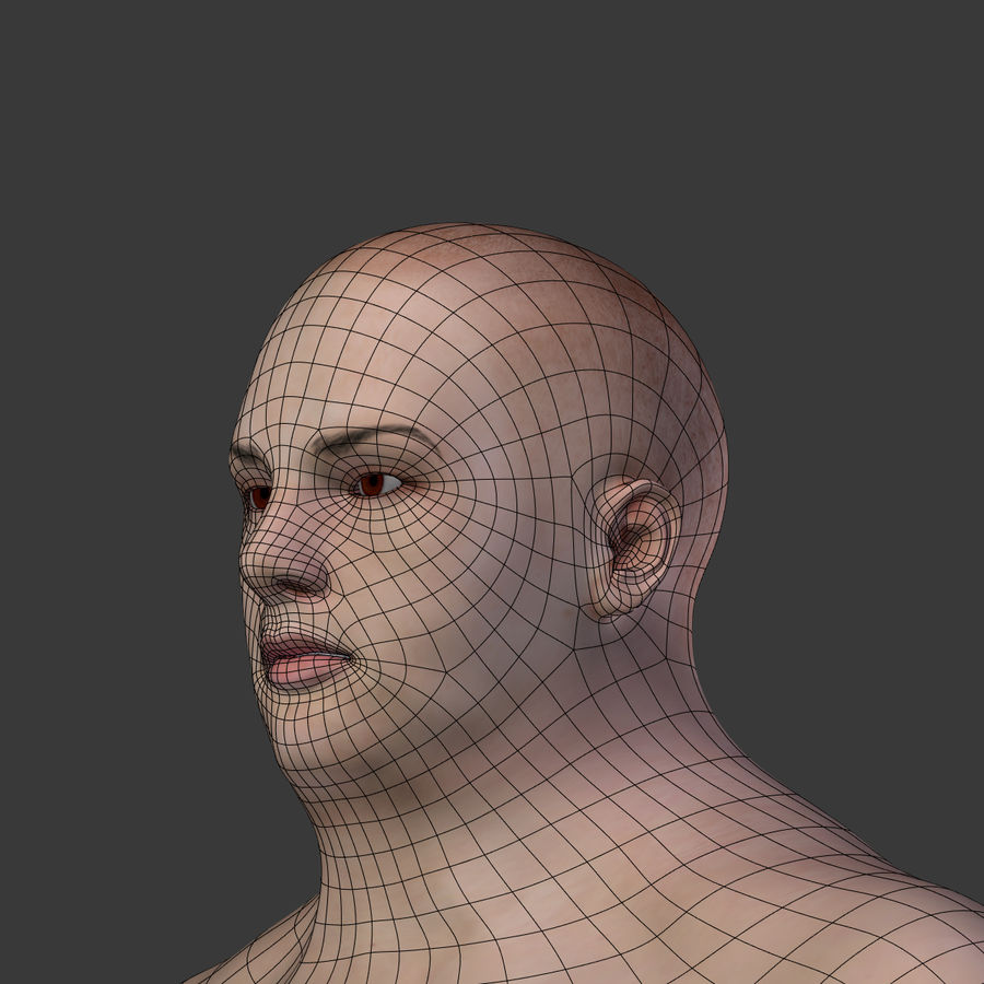 Fat Mid Aged Woman royalty-free 3d model - Preview no. 21
