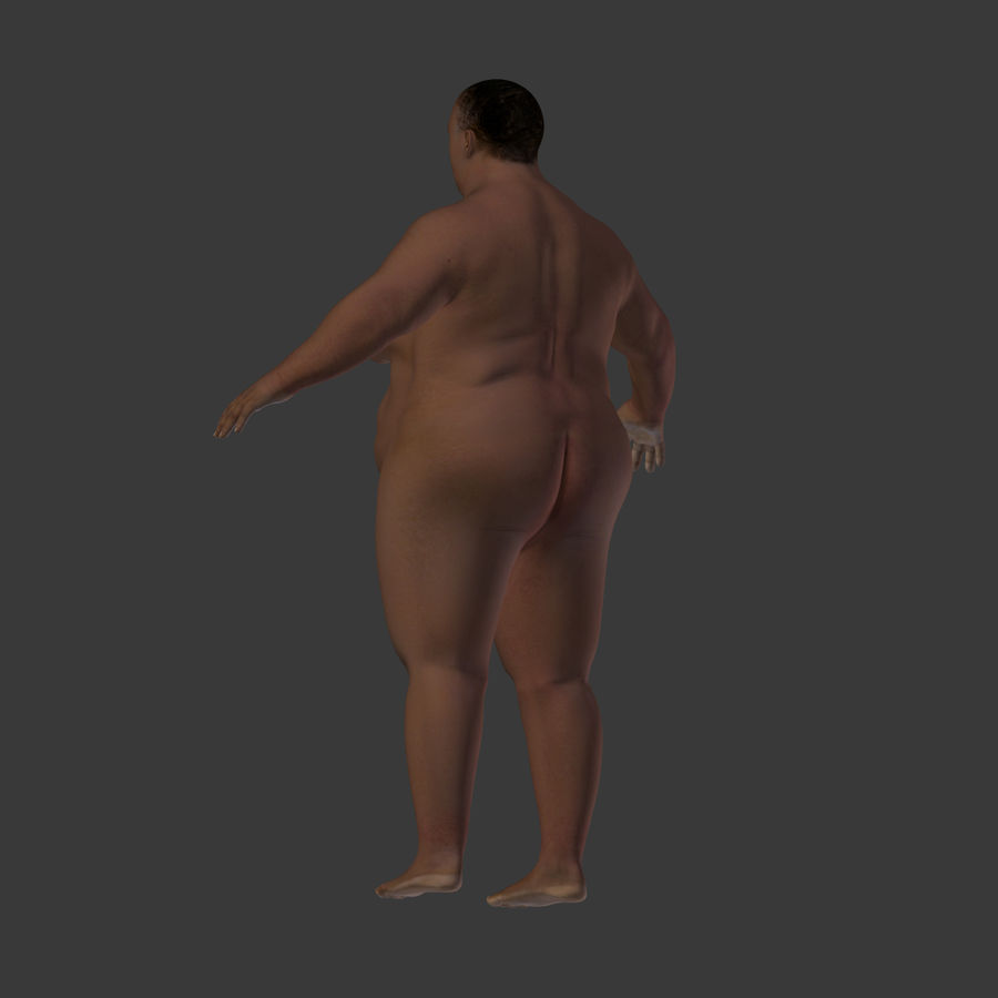 Fat Mid Aged Woman royalty-free 3d model - Preview no. 17