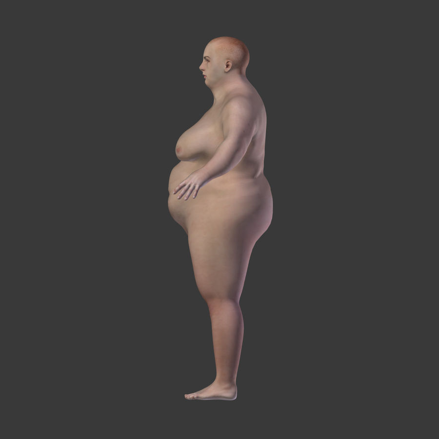 Fat Mid Aged Woman royalty-free 3d model - Preview no. 12