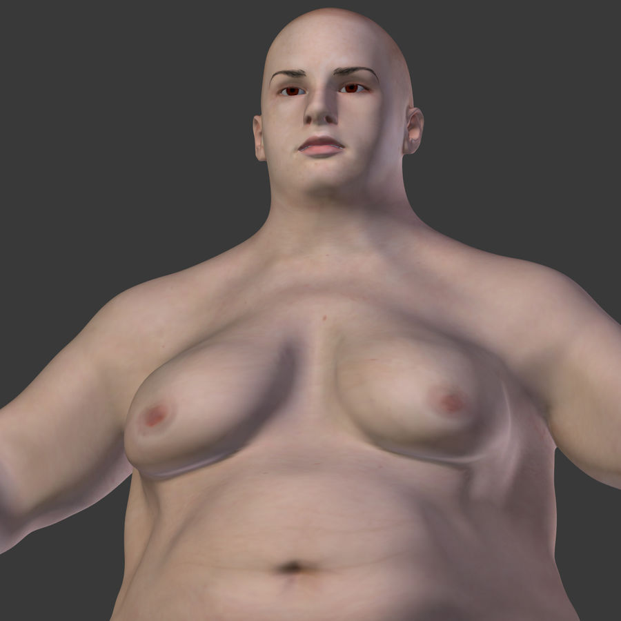 Fat Mid Aged Woman royalty-free 3d model - Preview no. 28