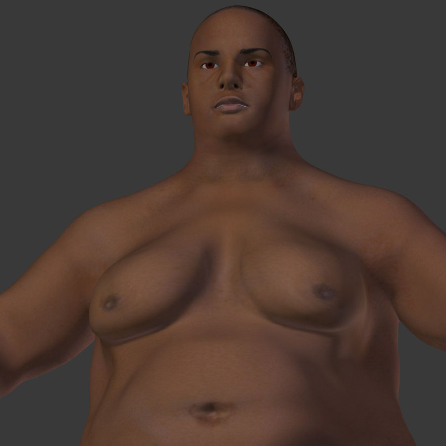 Fat Mid Aged Woman royalty-free 3d model - Preview no. 26