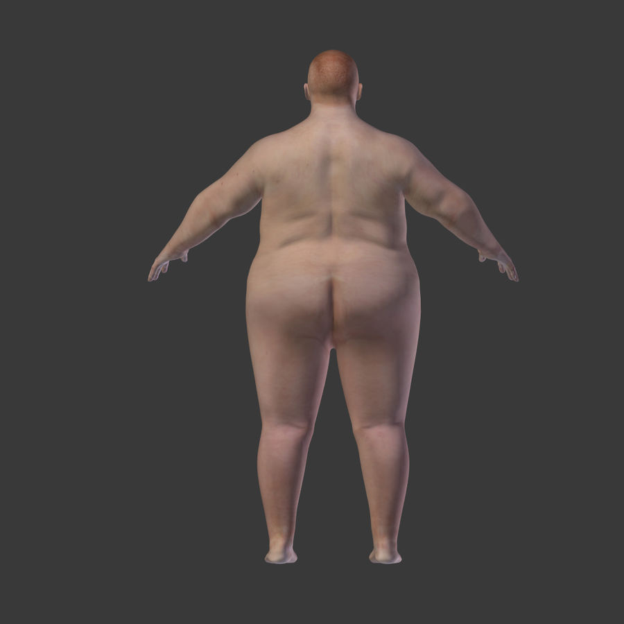 Fat Mid Aged Woman royalty-free 3d model - Preview no. 18