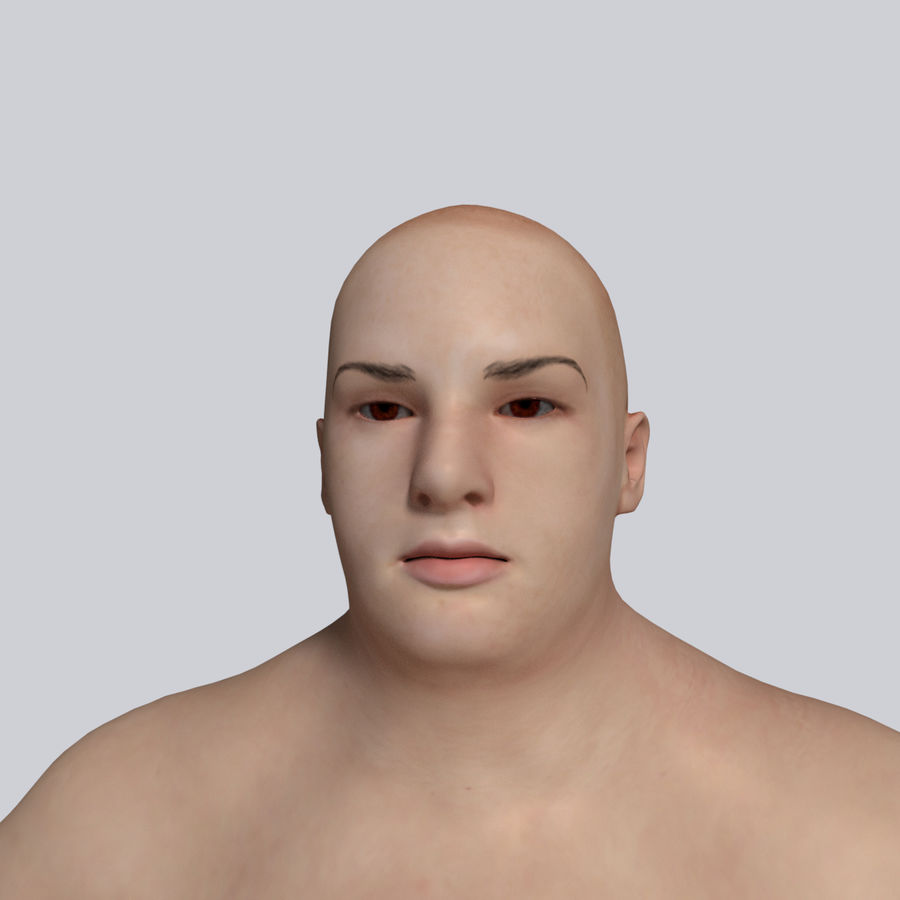 Fat Mid Aged Woman royalty-free 3d model - Preview no. 3