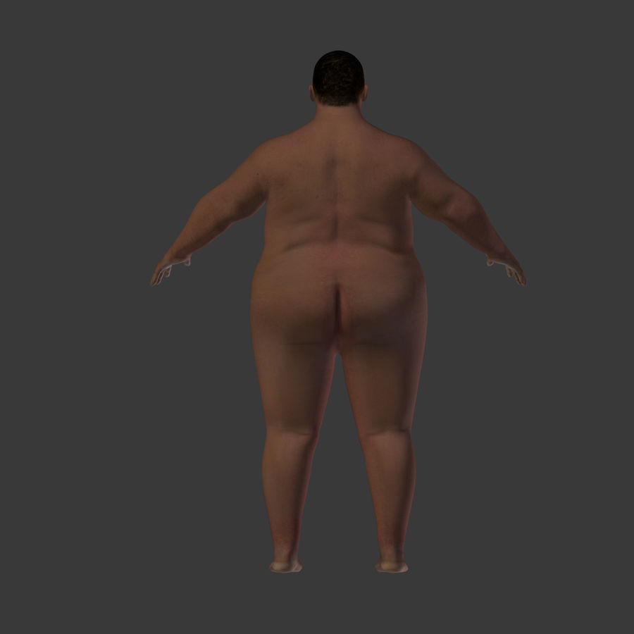 Fat Mid Aged Woman royalty-free 3d model - Preview no. 19