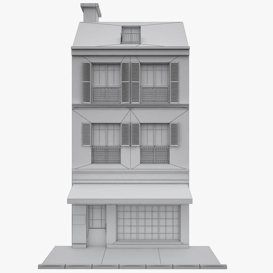 Gebouw Parijs gevel royalty-free 3d model - Preview no. 10