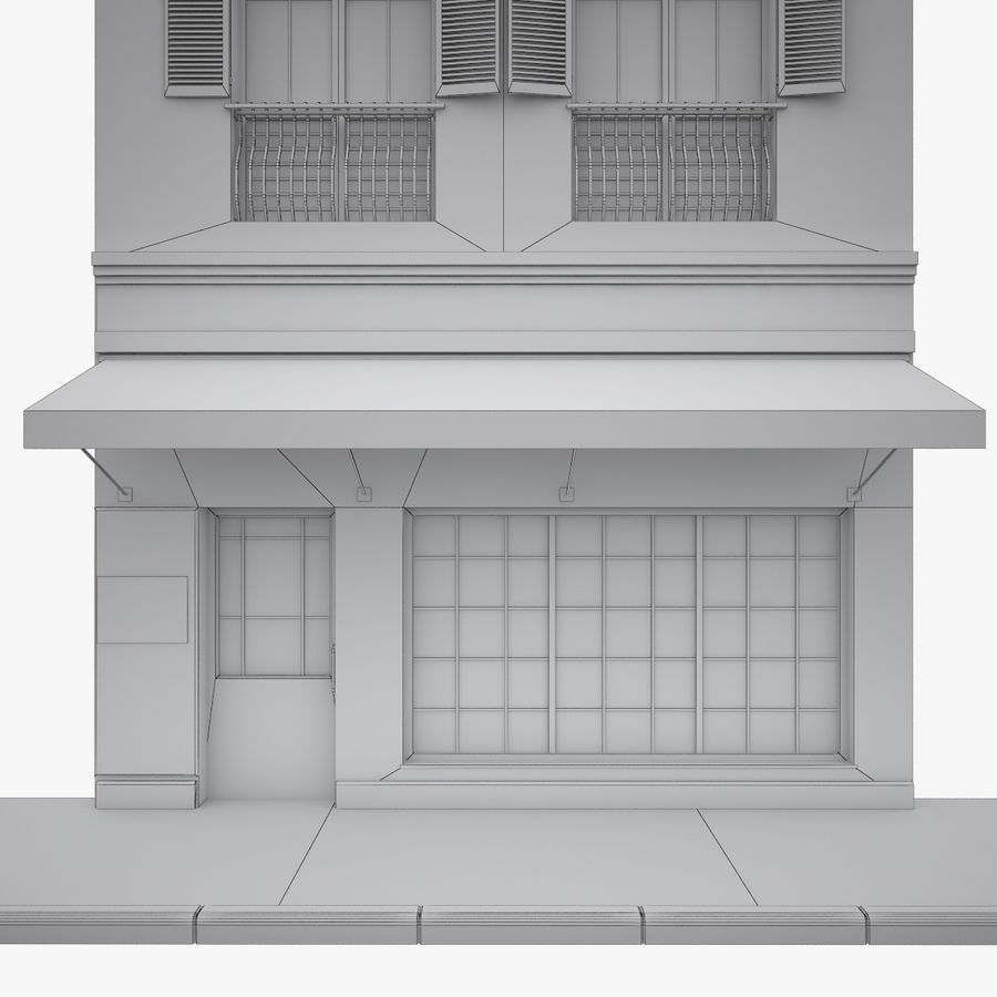 Gebouw Parijs gevel royalty-free 3d model - Preview no. 12