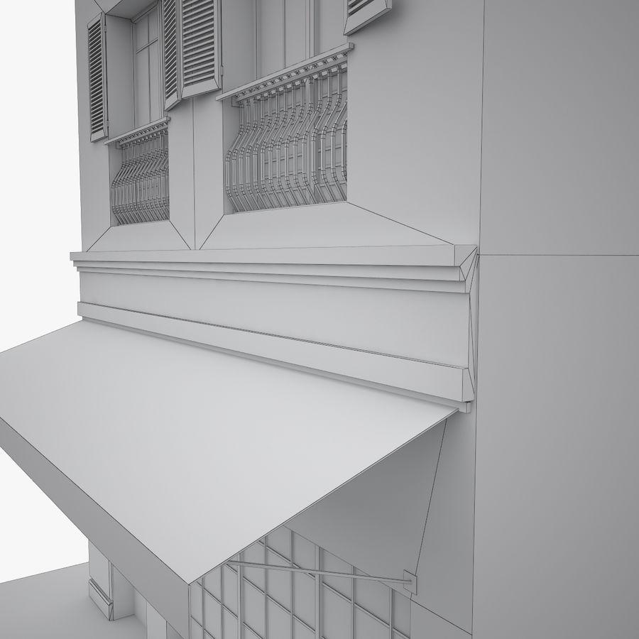 Gebouw Parijs gevel royalty-free 3d model - Preview no. 14