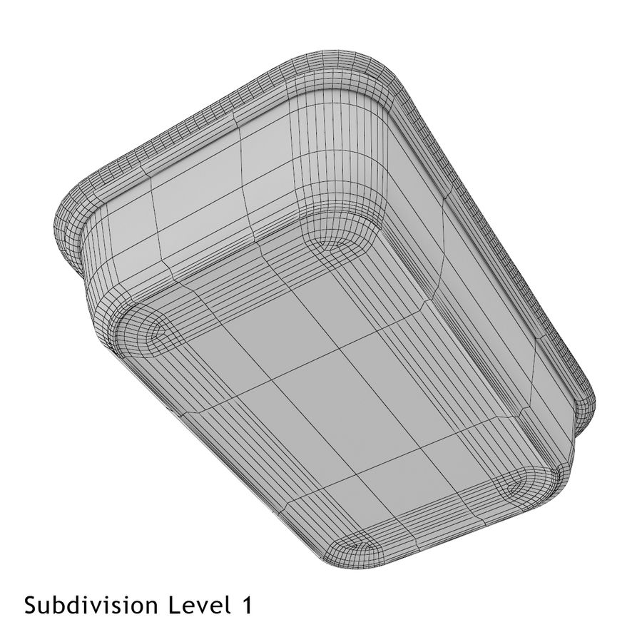 Plastic Food Container royalty-free 3d model - Preview no. 7