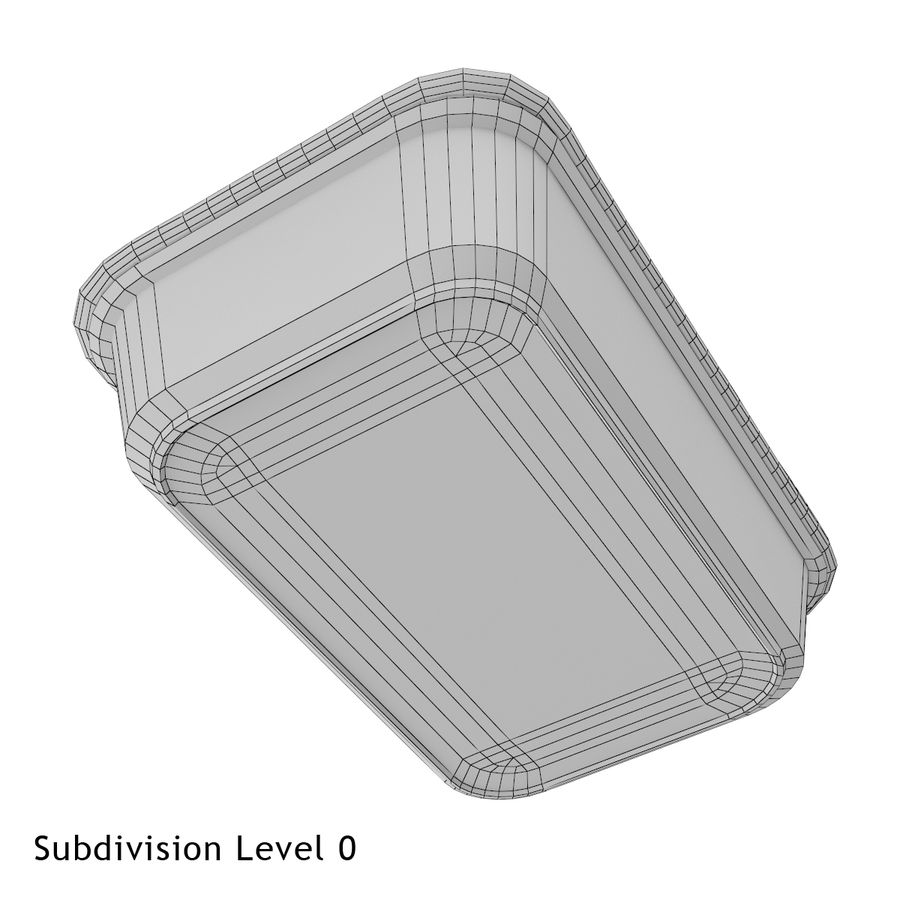 Plastic Food Container royalty-free 3d model - Preview no. 6