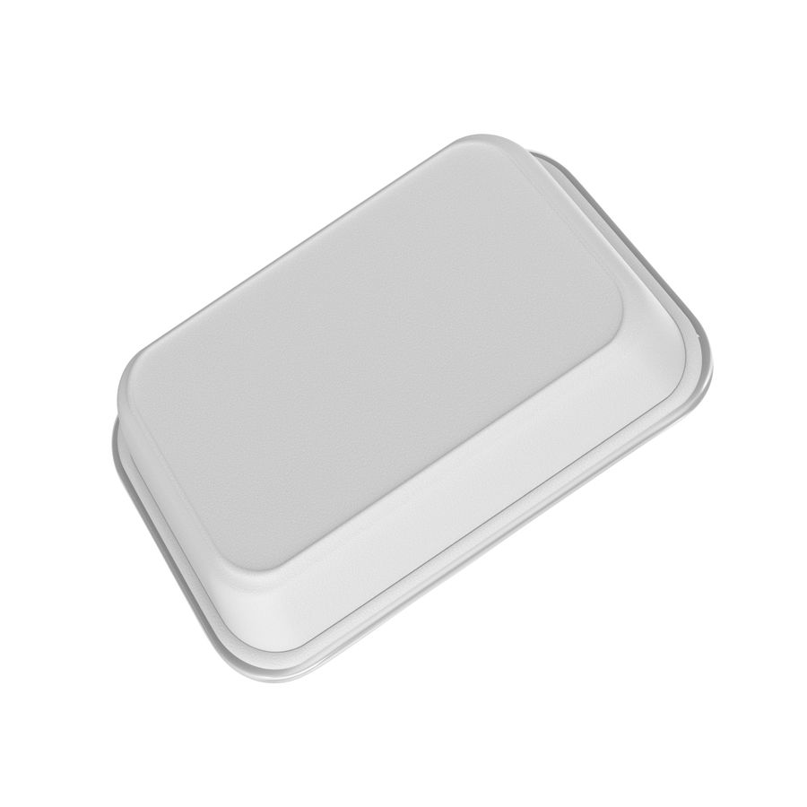 Plastic Food Container royalty-free 3d model - Preview no. 3