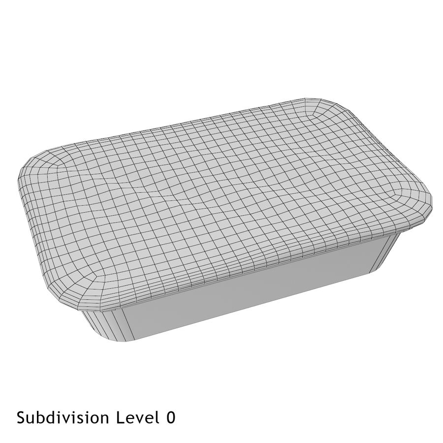 Plastic Food Container royalty-free 3d model - Preview no. 4