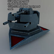 pistolet scifi turrent 2 3d model
