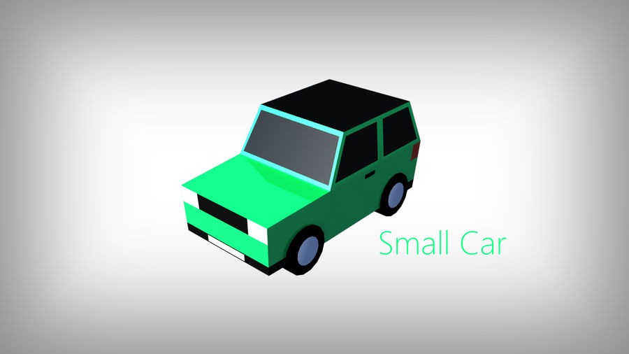 Pack de carros tipo Low Poly Toon com 10 + Veículos royalty-free 3d model - Preview no. 2