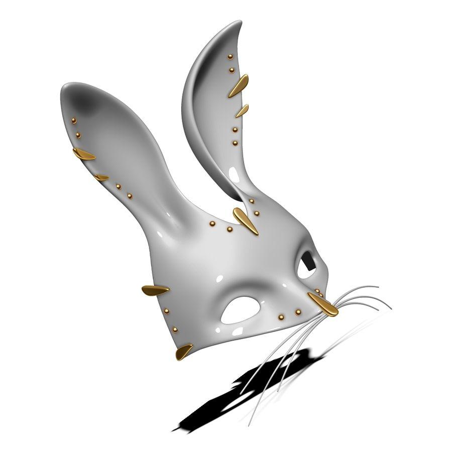 Tavşan Maskesi royalty-free 3d model - Preview no. 7
