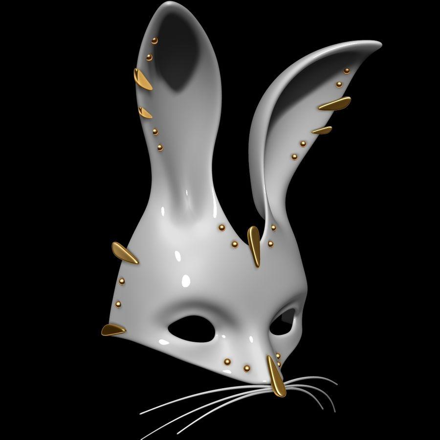 Tavşan Maskesi royalty-free 3d model - Preview no. 2