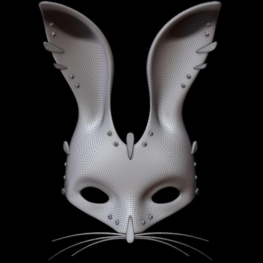 Tavşan Maskesi royalty-free 3d model - Preview no. 10