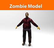 zombie fat character 3d model