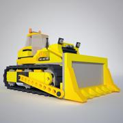 低聚推土机 3d model