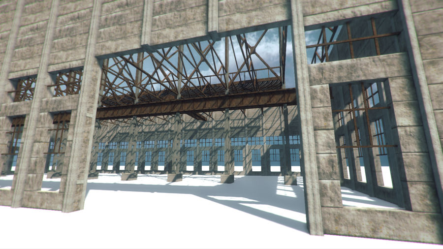Unfinished Construction royalty-free 3d model - Preview no. 5