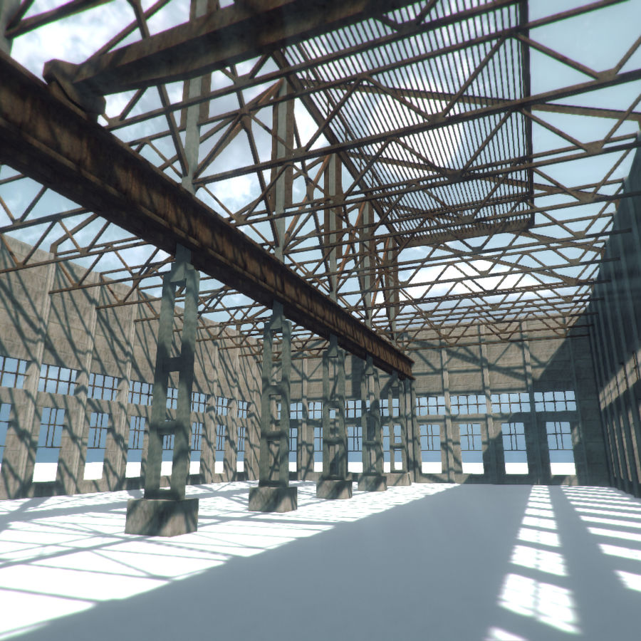 Unfinished Construction royalty-free 3d model - Preview no. 1