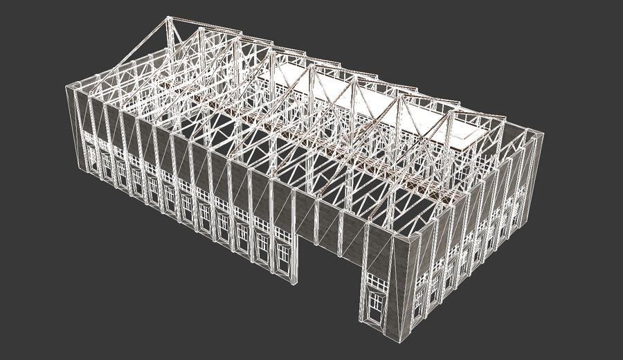 Unfinished Construction royalty-free 3d model - Preview no. 10