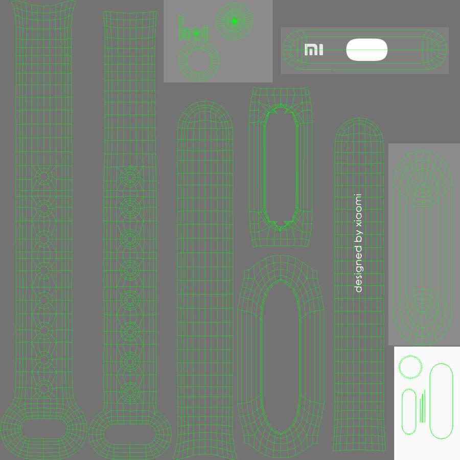 Rastreador de atividades de fitness Xiaomi Mi Band Pulse 1S royalty-free 3d model - Preview no. 15