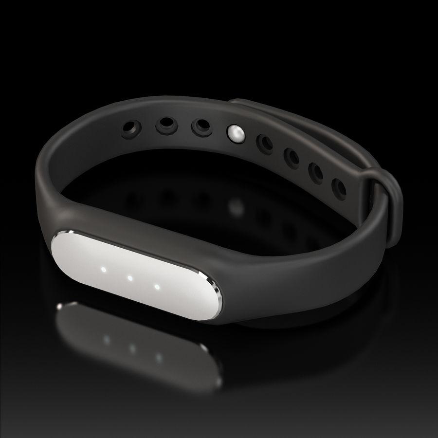 Rastreador de atividades de fitness Xiaomi Mi Band Pulse 1S royalty-free 3d model - Preview no. 2
