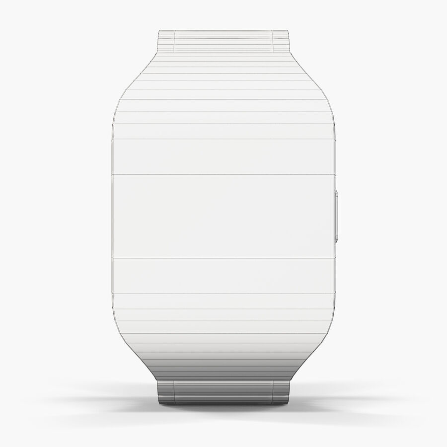 Sony SmartWatch 3 Silver royalty-free 3d model - Preview no. 8