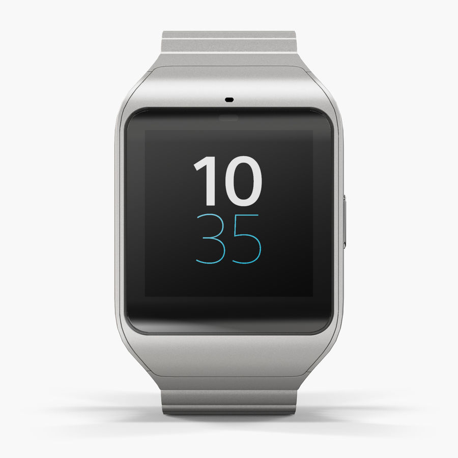 Sony SmartWatch 3 Silver royalty-free 3d model - Preview no. 1