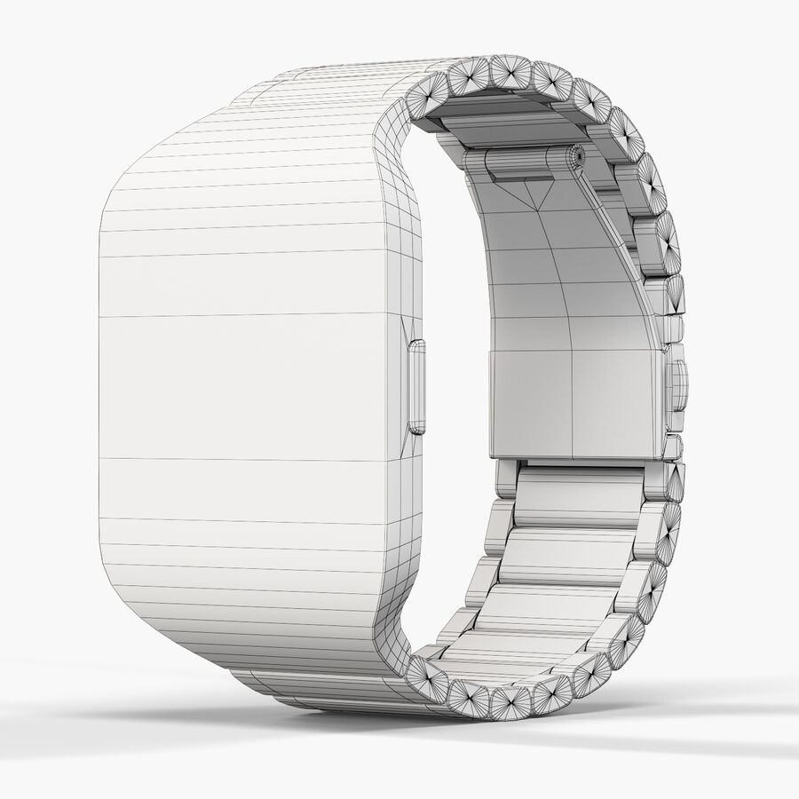 Sony SmartWatch 3 Silver royalty-free 3d model - Preview no. 10