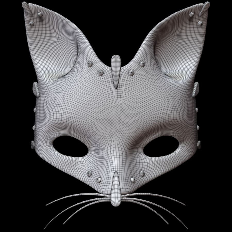 Cat mask royalty-free 3d model - Preview no. 8