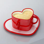 Heart Shape Cup 3d model