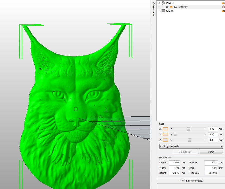 lynx relief for CNC royalty-free 3d model - Preview no. 7