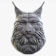 lynx relief for CNC 3d model