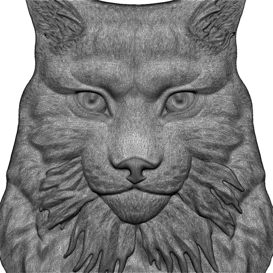 lynx relief for CNC royalty-free 3d model - Preview no. 6
