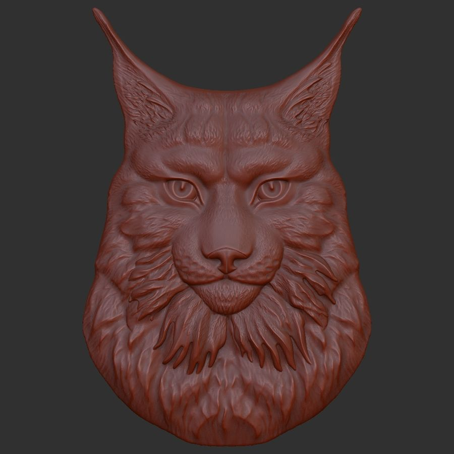 lynx relief for CNC royalty-free 3d model - Preview no. 5