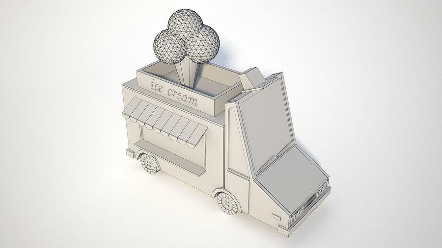 아이스크림 트럭 royalty-free 3d model - Preview no. 7
