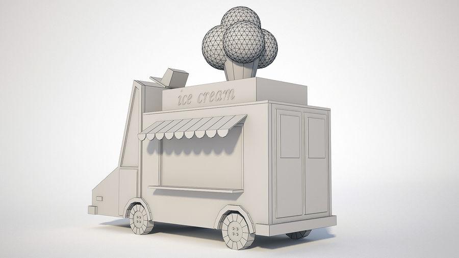아이스크림 트럭 royalty-free 3d model - Preview no. 8